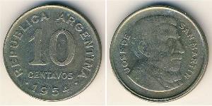 10 Centavo Argentina (1861 - ) Nichel/Acciaio