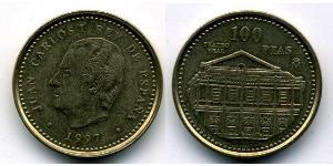 100 Peseta Royaume d'Espagne (1976 - ) Cuivre/Nickel/Zinc