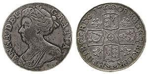 1 Crown Kingdom of Great Britain (1707-1801) Silver Anne, Queen of Great Britain (1665-1714)