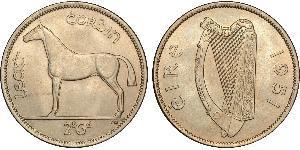 1/2 Corona Irlanda (1922 - ) Rame/Nichel