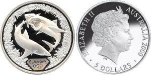 5 Dollar Australie (1939 - ) Argent Elizabeth II (1926-)