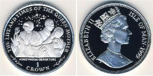 1 Krone Isle of Man Silver Elizabeth II (1926-)