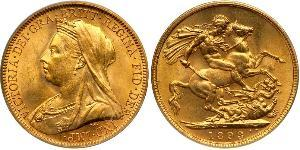 1 Sovereign United Kingdom of Great Britain and Ireland (1801-1922) Gold Victoria (1819 - 1901)