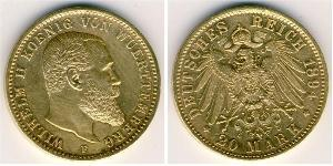 20 Mark Wurttemberg Gold