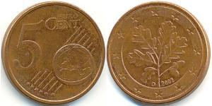 5 Eurocent Germany Copper plated steel