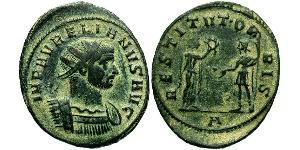 1 Antoninien Empire romain (27BC-395) Bronze Aurélien (215-275)