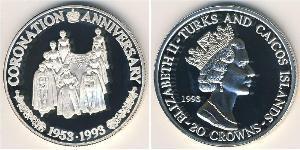 20 Krone Îles Turques-et-Caïques Argent