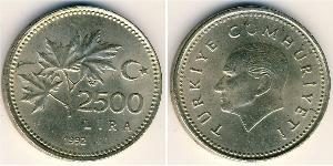 2500 Lira Turkey (1923 - )