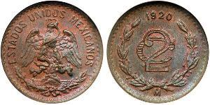 2 Centavo United Mexican States (1867 - )