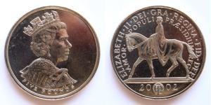 5 Pound United Kingdom (1922-) Copper/Nickel Elizabeth II (1926-)