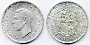 1/2 Crown Feriind Kiningrik (1922-) Argent George VI (1895-1952)