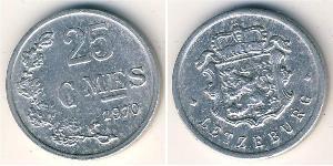 25 Sent Luxembourg Aluminium
