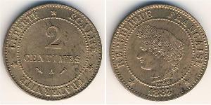 2 Centavo French Third Republic (1870-1940)  Copper