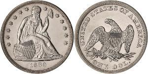 SEATED LIBERTY SILVER DOLLAR