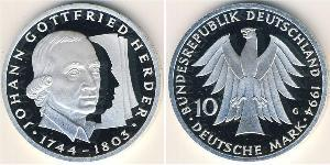 10 Mark Alemania Plata