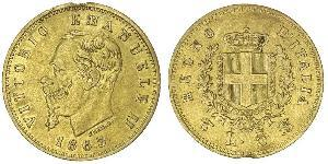 5 Lira Kingdom of Italy (1861-1946) Gold Victor Emmanuel II of Italy (1820 - 1878)
