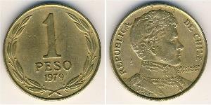1 Peso Chile Brass