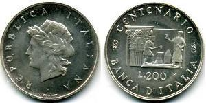 200 Ліра Італія Срібло
