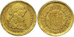 1 Escudo Viceroyalty of New Granada (1717 - 1819) Gold Charles III of Spain (1716 -1788)