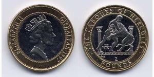 2 Pound Gibraltar Bimetal Elizabeth II (1926-)