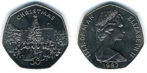 50 Penny Isle of Man Kupfer/Nickel