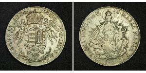 1/2 Thaler 匈牙利王国 銀 约瑟夫二世 (神圣罗马帝国) (1741 - 1790)