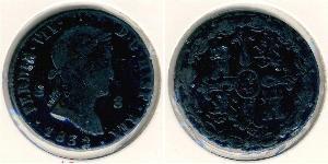 8 Maravedi Kingdom of Spain (1814 - 1873) Copper