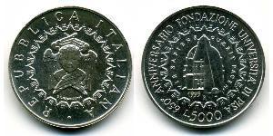 5000 Lira Italia Argento
