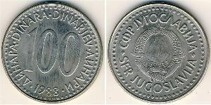 100 Denaro Repubblica Socialista Federale di Jugoslavia (1943 -1992) Rame/Zinco/Nichel