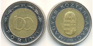 100 Forint Hungría (1989 - ) Acero/Latón