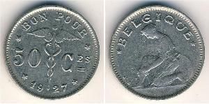 50 Centime Belgium Nickel