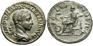 1 Denario Imperio romano (27BC-395) Plata Alejandro Severo (208-235)