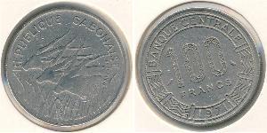 100 Franc Gabón Níquel