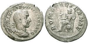 1 Denarius Römische Kaiserzeit (27BC-395) Silber Gordian I Africanus (159-238)