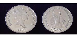 1 Dollar New Zealand Copper-Nickel Elizabeth II (1926-)