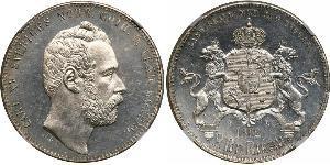 1 Riksdaler Svezia Argento Carlo XV di Svezia (1826 - 1872)