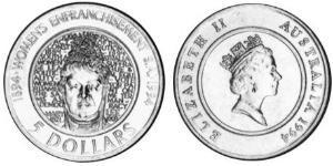 5 Dollar Australie (1939 - ) Acier