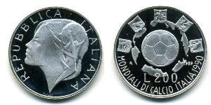 200 Lira Italie Argent
