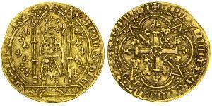 1 Франк Франкское королевство (843–1791) Золото 1364-1380 Карл V Мудрый (1338 – 1380)