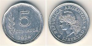 5 Centavo Argentina (1861 - ) Alluminio
