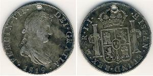 8 Rial Kingdom of Spain (1814 - 1873) Argent