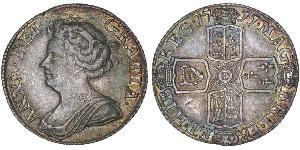 1 Sixpence / 6 Penny Kingdom of Great Britain (1707-1801) Silver Anne (1665-1714)