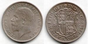 1/2 Крона(английская) Великобритания (1922-) Серебро Георг V (1865-1936)