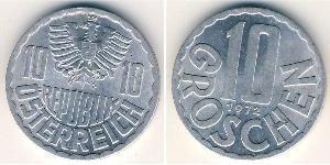 10 Grosh Republic of Austria (1955 - ) Alluminio