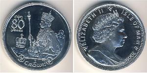 1 Krone Île de Man Argent Elizabeth II (1926-)