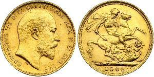1 Sovereign United Kingdom of Great Britain and Ireland (1801-1922) Gold Edward VII (1841-1910)