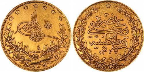 100 Piastre 1909 Ottoman Empire 1299 1923 Gold Prices