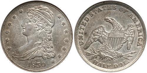 Moneta 50 Cent 1 2 Dollaro Stati Uniti D America 1776