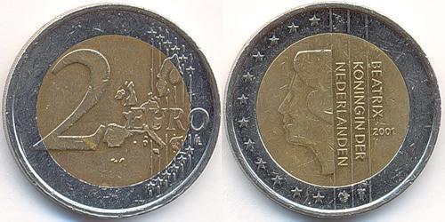 Монета 2 евро 2001 валюта на руси