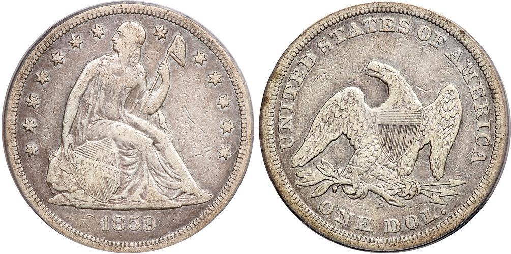 Moneda 1 D 243 Lar Estados Unidos De Am 233 Rica 1776 Plata